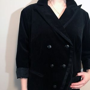 INC Black Velvet Button-Up Lightweight Jacket, 3X